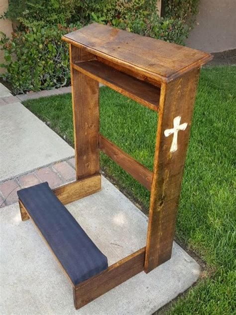 Prayer Kneeling Bench by Reclaimed Wood Prayer Kneeler Wesley Kneeler Kneeler Big