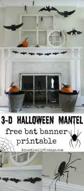 silhouette halloween mantel