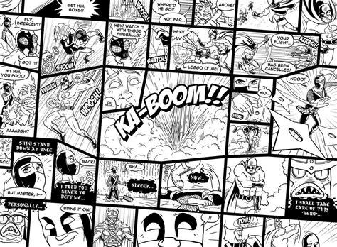 buy childrens comic wallpaper murals    sq