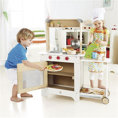 hape kids pretend play cook n serve kitchen ebay