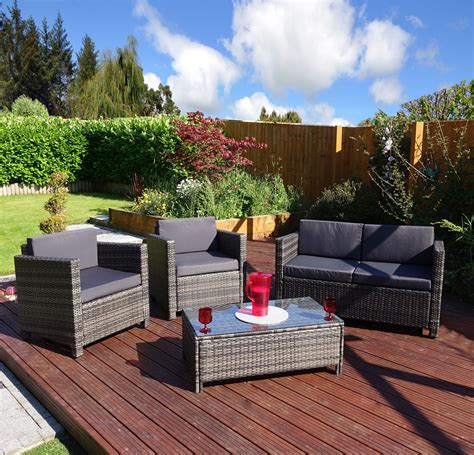 Garden Patio Sets by 4 Roma Rattan Sofa Set From Abreo