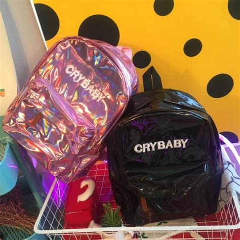 cry baby hologram backpack  storenvy