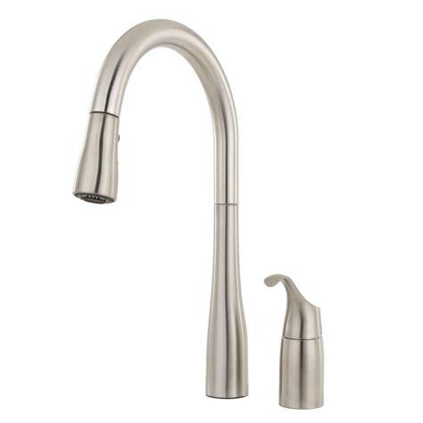 single handle pull kitchen faucet kohler beckon single handle electronic pull sprayer