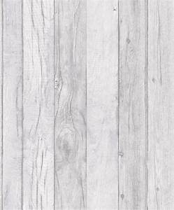 Grandeco Ideco Home Wood Wallpaper - A17402 - Grey - Cut