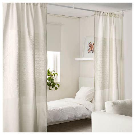 pack ikea white curtains dividing room divider window