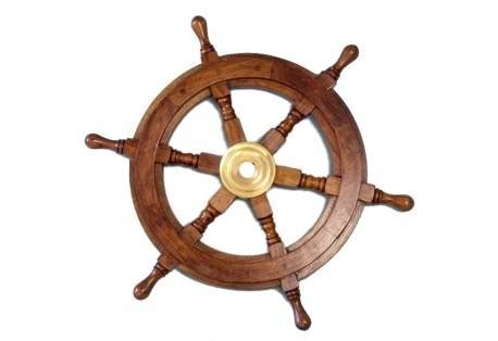 Classic Wooden Ship Wheel Decor