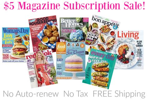 she magazine subscription hot 5 magazine subscription sale great titles food network martha stewart living more
