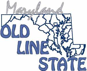 Maryland License Plate Designs Maryland The Old Line State Embroidery Design