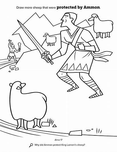 Ammon Mormon Lds Coloring Clipart Sheep King