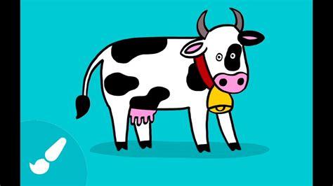 Dibujos De Animales Para Niños Cómo Dibujar Una Vaca