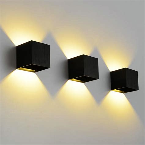 9w dimmable cob ip65 cube adjustable surface mounted outdoor led lightig led indoor wall light