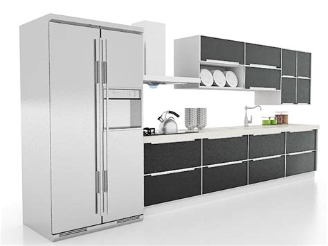 Black Kitchen Cabinets 3d Model 3ds Max Files Free