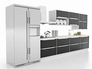 black kitchen cabinets 3d model 3ds max files free With kitchen furniture 3d free
