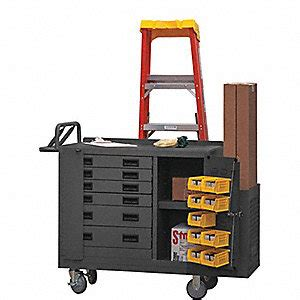 grainger approved mobile cabinet workbench steel