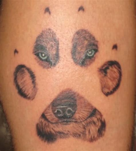 awesome wolf paw tattoo