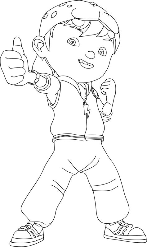 gambar kartun boboboy untuk mewarnai gokil abis