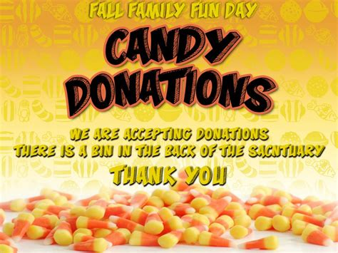 Candy Donations for Fall Family Fun Day | Grace Christian ...