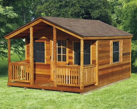 cabin shed kits amish elite cabin with porch kit choose size