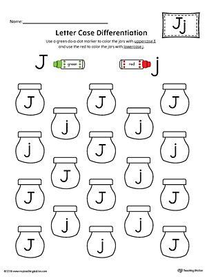 letter recognition worksheet letter j 807 | Letter Case Recognition Worksheet Letter J