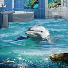 Dolphin 3D Bathroom Floor   3d Floor Tiles Werbeaktion