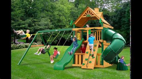 decorating awesome gorilla swing sets  kids play yard