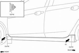 Mazda 3 Service Manual - Side Step Molding Removal