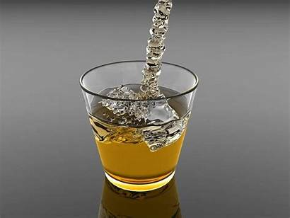 Glass Water 3d Object Beer Drink Yellow