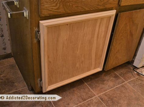 kitchen cabinet door edge trim bathroom makeover day 3 how to make cabinet doors