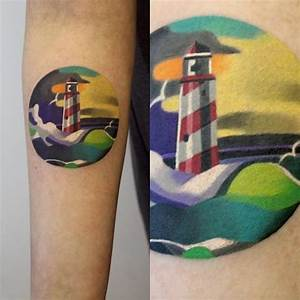 Watercolor Lighthouse Tattoo | www.pixshark.com - Images ...