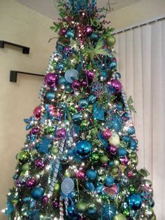pix  blue  purple christmas tree decorating ideas