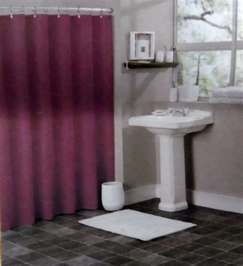 solid burgundy bathroom vinyl plastic shower curtain liner