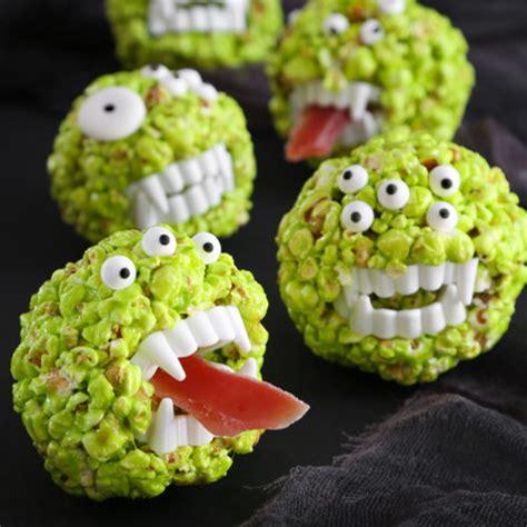 Monster Popcorn Balls - Sprinkle Bakes
