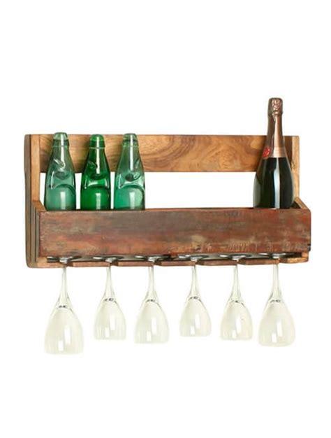 bicchieri di legno portabottiglie e portabicchieri in legno da parete