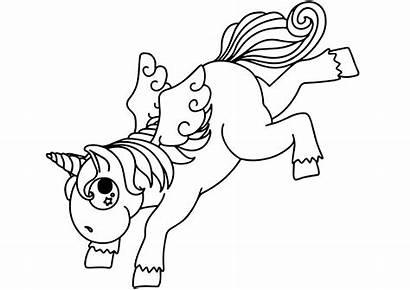 Unicorn Colorear Unicornios Cartoon Coloring Ausmalbilder Bucking