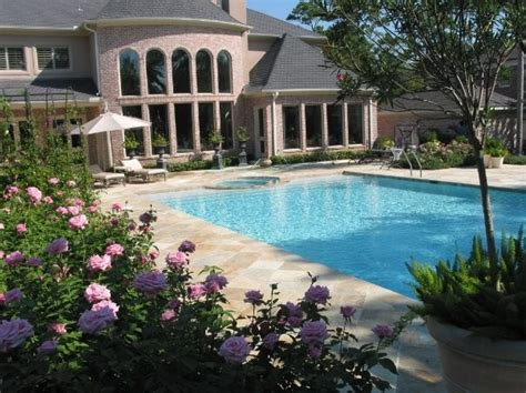 mediterranean style home and gardens patio houston