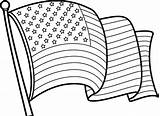 Coloring Flag American Pages Clipart Clipground Everfreecoloring sketch template