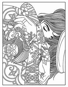 tattoo coloring page - woman tattoos tattoos adult coloring pages