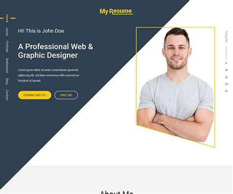 Personal Portfolio Template Myresume Bootstrap Personal Portfolio Template Ecology