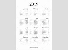 Elegancki kalendarz 2019 — Grafika wektorowa © olania