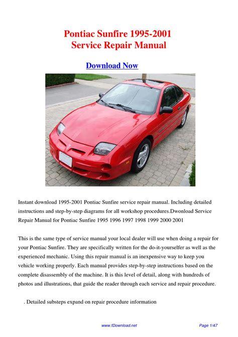 download pontiac sunfire 1995 2001 factory repair manual by fu juan issuu