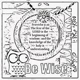 Coloring Wisdom Pages Sheets Bible Verse Children Treasure Proverbs Printable Gems Adult Colouring Activity Childrens Lord Mining Verses Christian Box sketch template