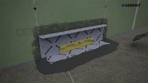 geberit spülkasten montageanleitung geberit wandablauf installation mit duofix