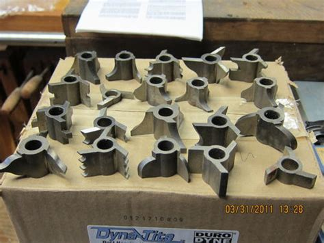 table saw moulding head sold old craftsman shaper molding head tooling by