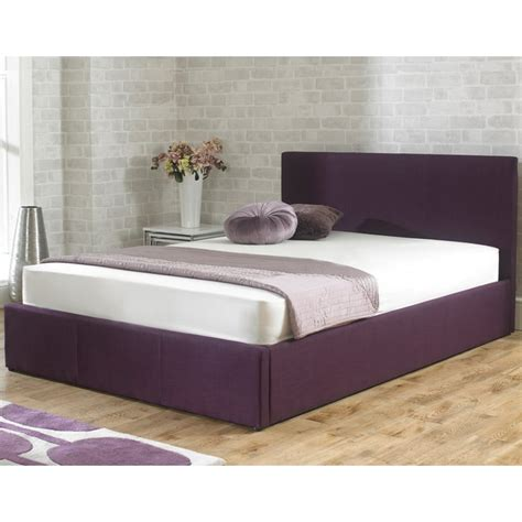 king size ottoman storage bed cheapest stirling 5ft king size plum fabric storage bed