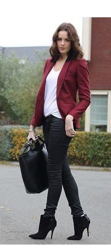 How to wear maroon bomber jacket women - Google Search | Fashion Inspire | Pinterest | Maroon ...