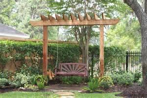 Two Post Pergola Arbor Swing