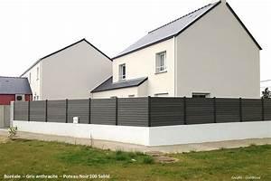 Idee Cloture Devant Maison : cloture composite bor ale gris anthracite oc wood ~ Dailycaller-alerts.com Idées de Décoration