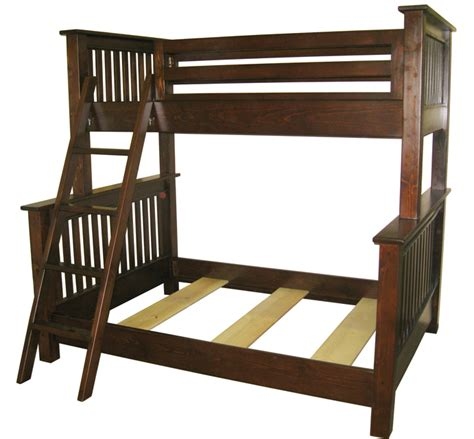 free bunk bed plans twin over queen woodworking expert