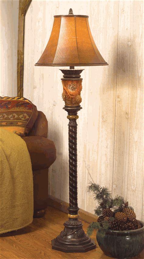 pine cone glow floor lamp