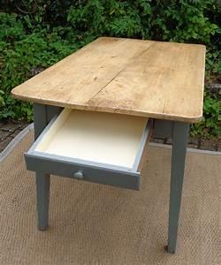 Table De Cuisine Avec Tiroir : jolie petite table ancienne de cuisine de pecheur ~ Teatrodelosmanantiales.com Idées de Décoration